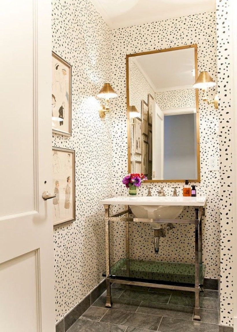 31 Amazing Small Bathroom Wallpaper | ⌂ Home Improvements ...