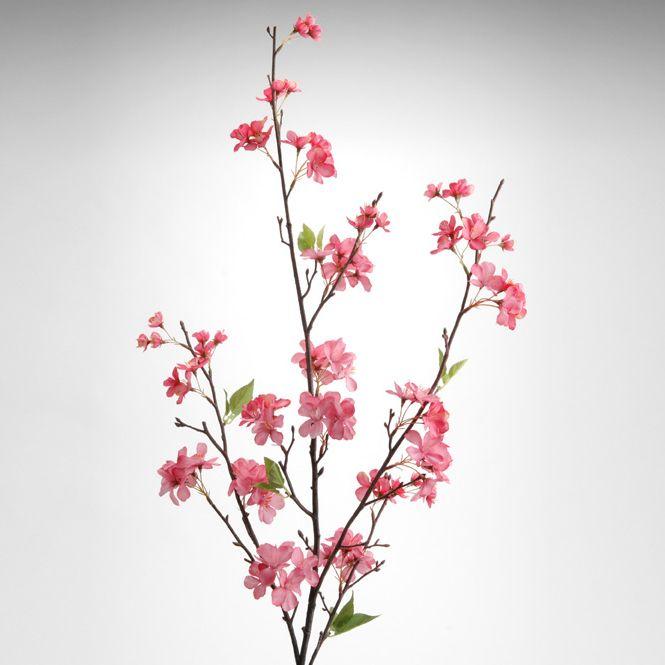 fleur artificielle branche de cerisier rose romantique pinterest fleurs artificielles. Black Bedroom Furniture Sets. Home Design Ideas