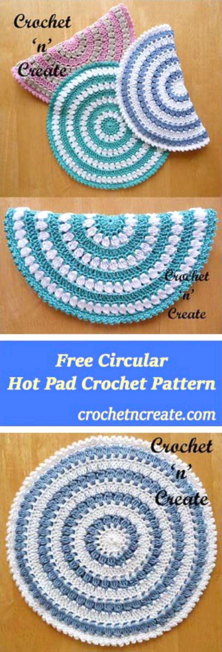 112 Free Crochet Potholder Patterns #crochetpotholderpatterns