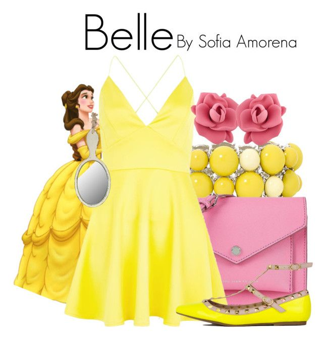 """""""Belle"""" by sofiaamorena ❤ liked on Polyvore featuring Mixit, Disney, Marc by Marc Jacobs, AX Paris and Dot & Bo"""
