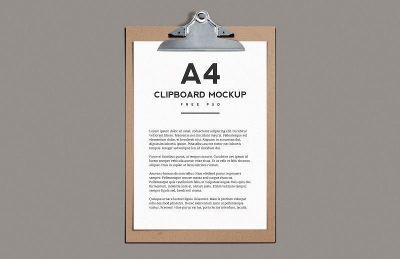 A4 Clipboard Mockup Dolor Graficos