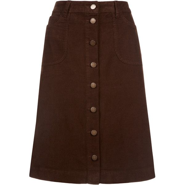 Monsoon Cleo Cord Skirt (120 AUD) ❤ liked on Polyvore featuring ...