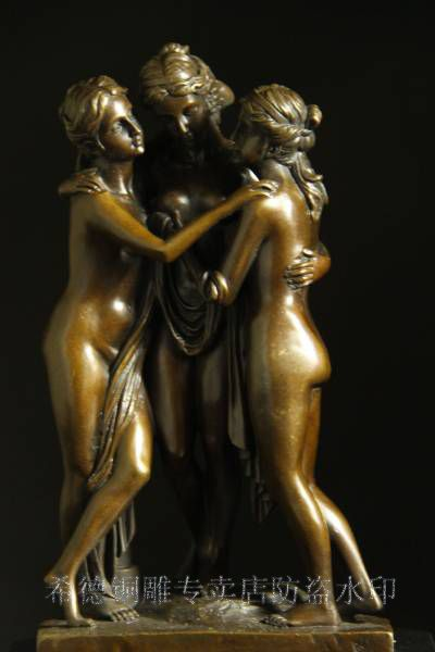 Christmas-gifts-goddess-statues-Graces-Kharites-Sculptures-Lost-Wax-Retro-home-decoration-Bronze-Casting-Statue-CZS.jpg (400×600)