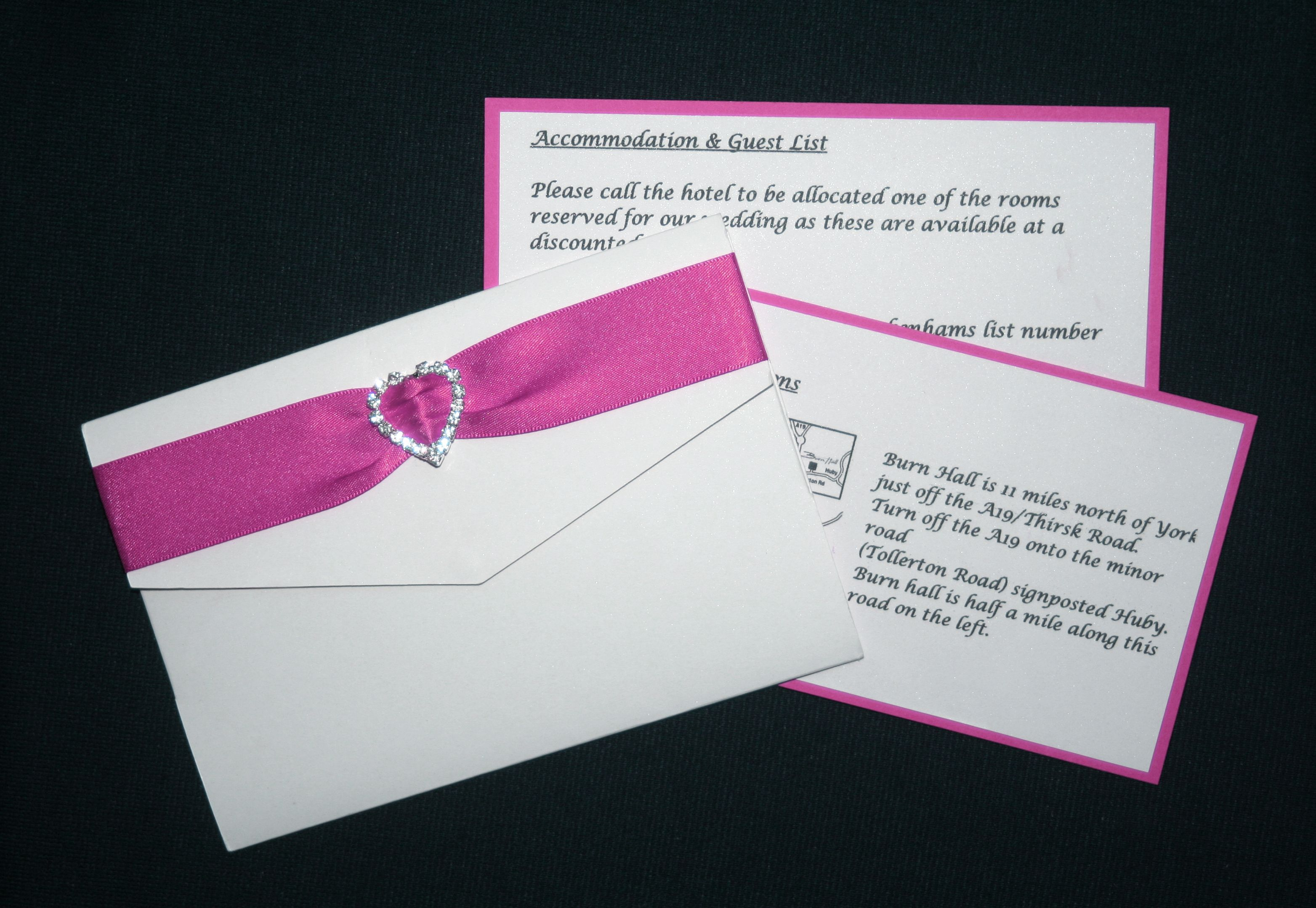 DIY wedding invitations - Rebecca pocketfold invitations | Pink ...