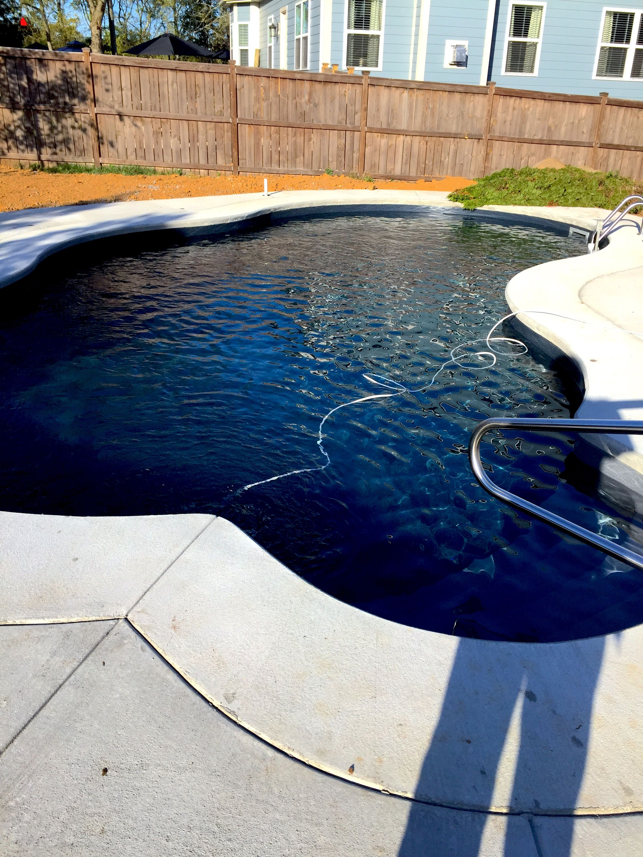 Pool And Spa Depot 16 X 34 Steel Wall Deer Creek Cantilever Coping Concrete Decking