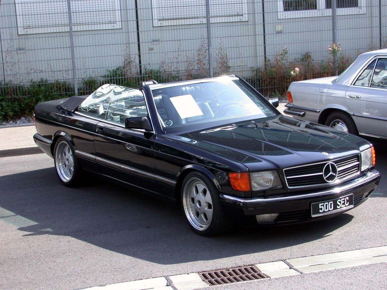 Mobilverzeichnis 1984 Mercedes Benz W126 500sec Cabrio Med Bilder