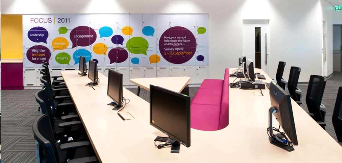 Creative Office Branding Using Wall Graphics From Vinyl Impression, Wall  Stickers Give A Professional Look