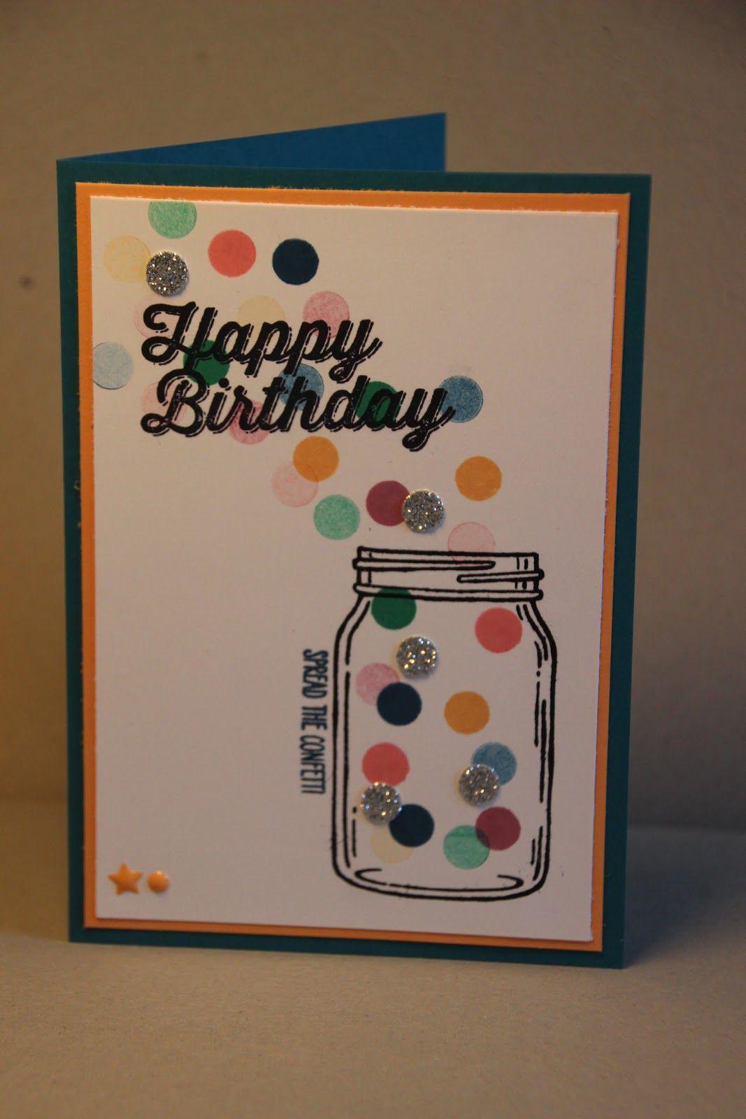 kaartjes fun: Confetti birthday