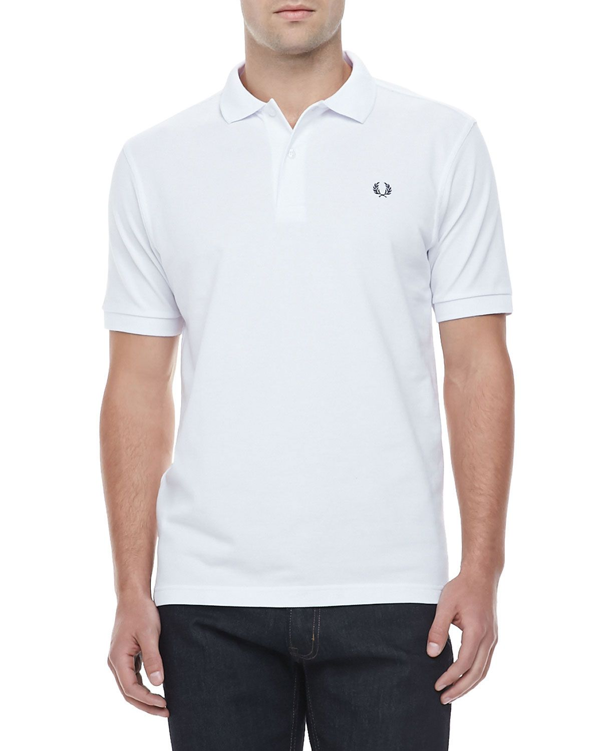 Polo-shirt Fred Perry white classic M6000p Polo