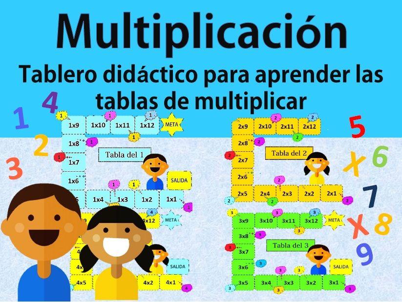 Tablero Didáctico Para Aprender Las Tablas De Multiplicar Contiene 9 Tableros Del La Tabla Del 1 Al 9 Ideal Para Que El Niño Aprenda Las Ta Teacherspayteachers