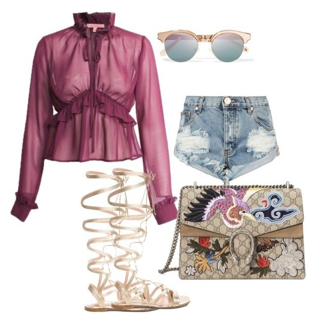 """""""Untitled #26"""" by kai-d-kloset on Polyvore featuring One Teaspoon, Le Specs, Gianvito Rossi and Gucci"""