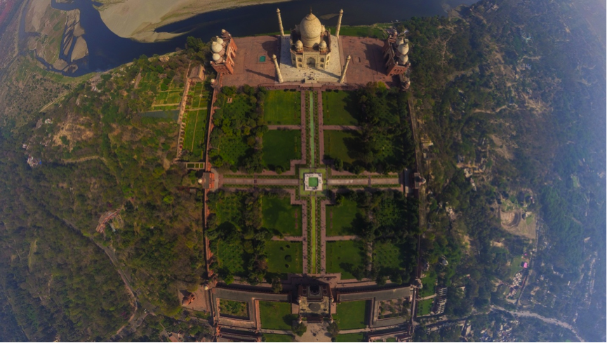 Check out this aerial view of the Taj Mahal. Do you see the four quadrangles - Check Out This Aerial View Of The Taj Mahal. Do You See The Four