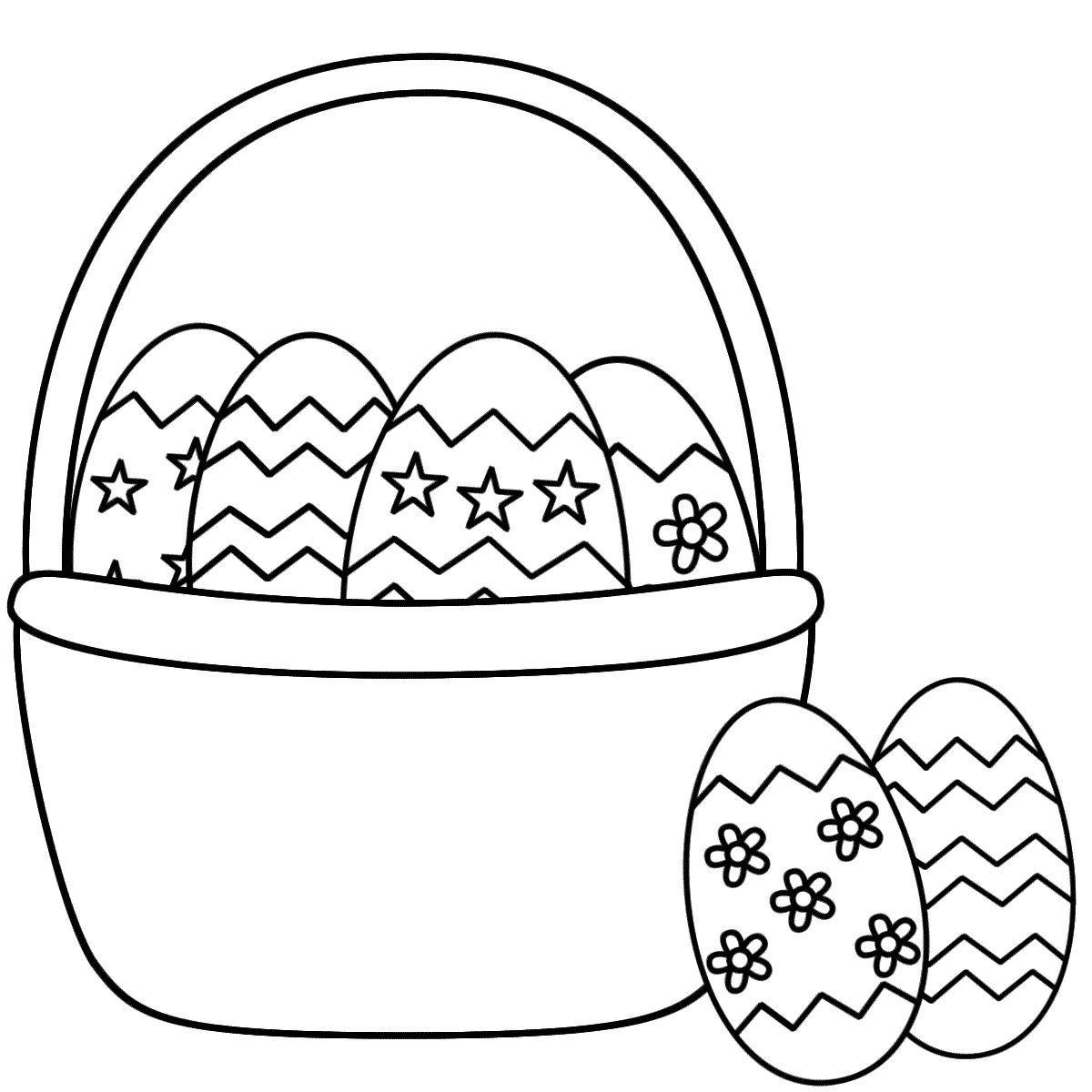 Easter Egg Basket Coloring Pages 16 1200