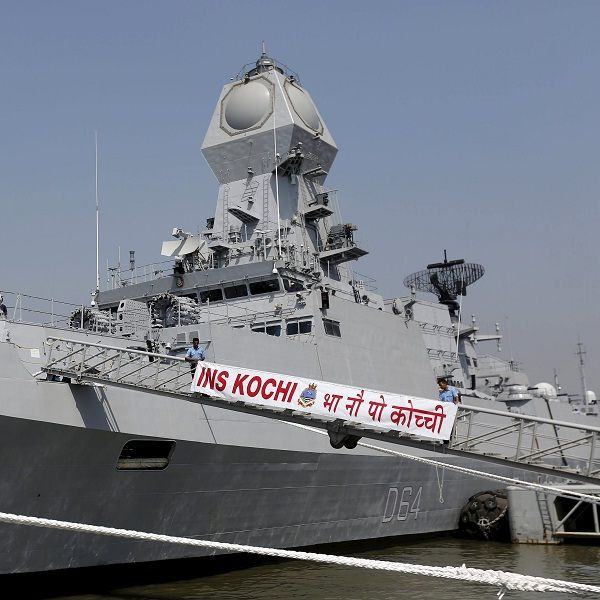 Ins Kochi India S Deadliest Stealth Guided Missile Destroyer Commissioned Latest News Updates At Daily News Analysis Warship Kochi Stealth
