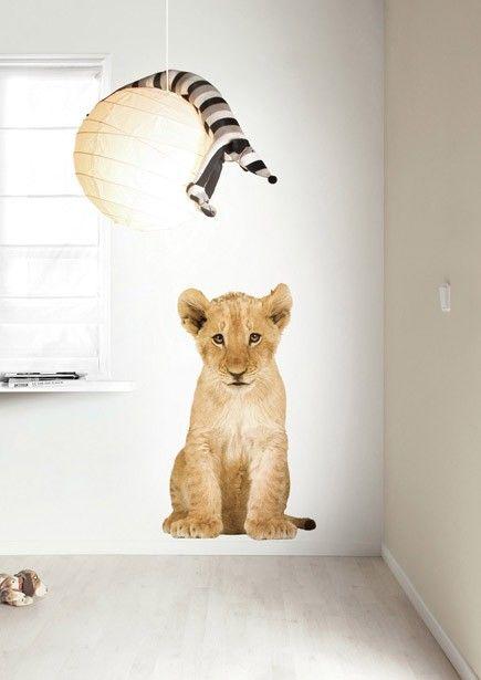 Babykamer of kinderkamer Muursticker levensechte Leeuw XL