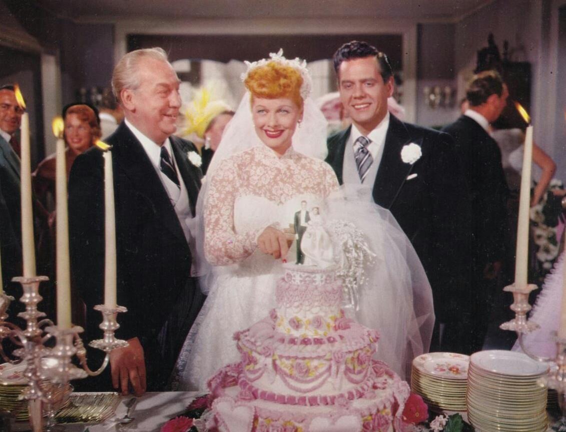 Lucille Ball Desi Arnaz In Wedding Scene Long Trailer 1954