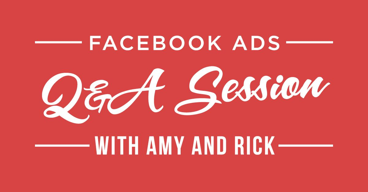 Do you have questions about Facebook advertising? That's a silly question, right? We've all got questions! (Why does Facebook have to make it so complicated sometimes?!) This week I have my go-to-resource for all things Facebook ads with us, Rick Mulready. You might remember Rick from previous episodes. He left the corporate world to help ... Click to Read More