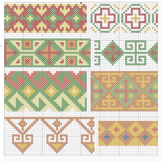 Georgian national folk cross stitch pattern | Georgian national folk ...