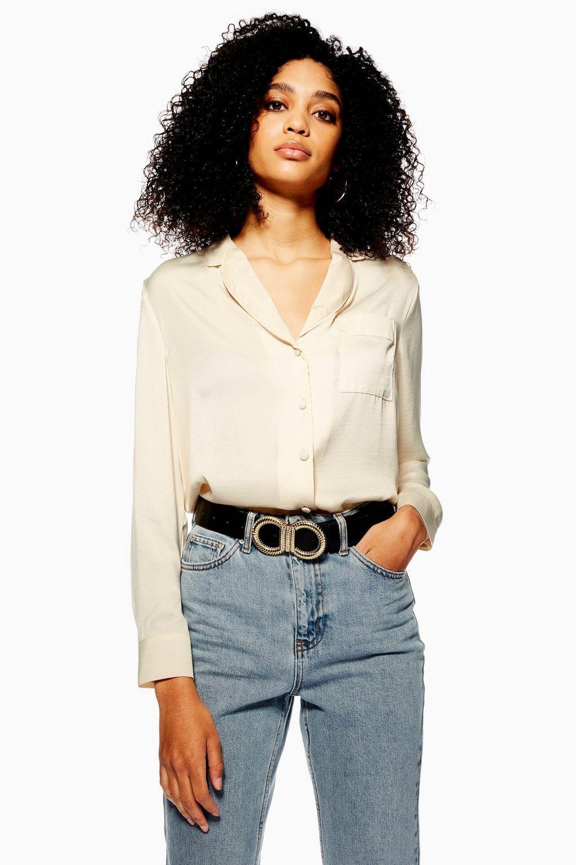 f1d48e6913c2b Satin PJ Style Shirt - Topshop USA