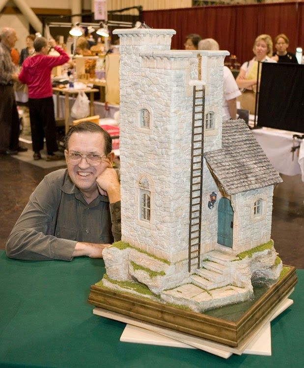Good Sam Showcase of Miniatures: 2013 GSAM instructor Rik Pierce: Mid-1990s Medieval Lighthouse as completed by collector.