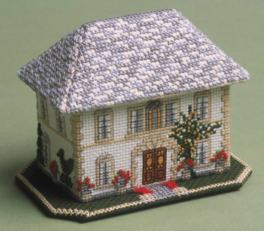 Complete With A Magnificent Magnolia Tree, This 3D Cross Stitch Kit Creates  An Elegant French