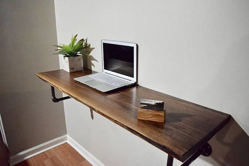 Wall Mounted Desk Idea Wall Mounted Desk Wall Desk Desk Design
