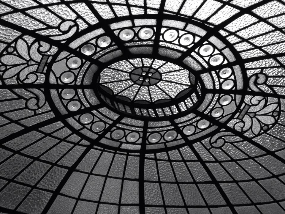 Goma Glasgow glass ceiling dome