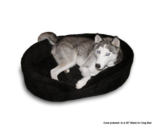 """Dog Bed King Cuddler American Made Large Black Fur Pet Bed. Outside Dim. 33x23x7"""". Inside Dim. 30x20x7"""". Removable Washable Cover. - http://www.thepuppy.org/dog-bed-king-cuddler-american-made-large-black-fur-pet-bed-outside-dim-33x23x7-inside-dim-30x20x7-removable-washable-cover/"""