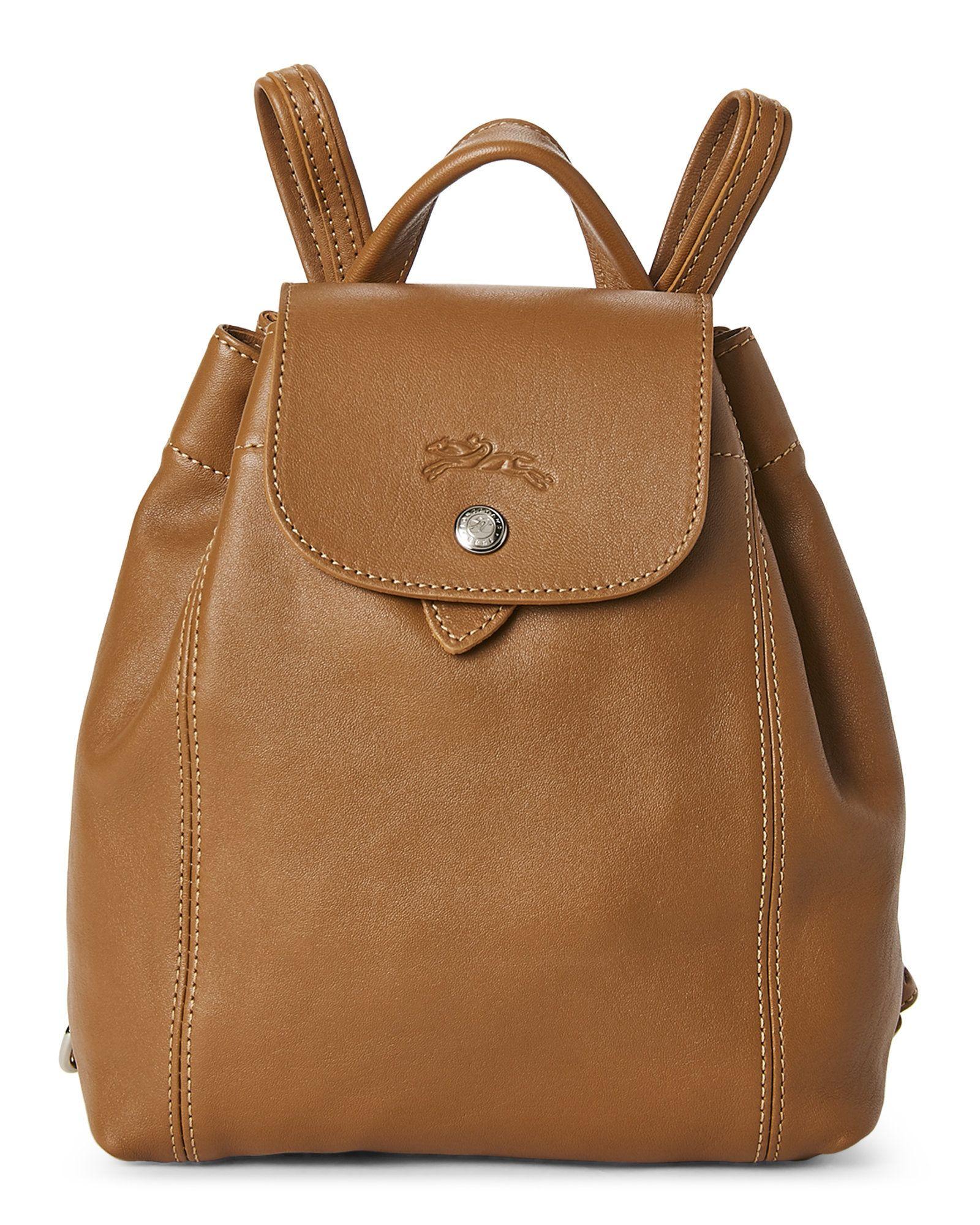 Longchamp Natural Le Pliage Cuir Backpack Century 21 Replica Handbags Designer Street