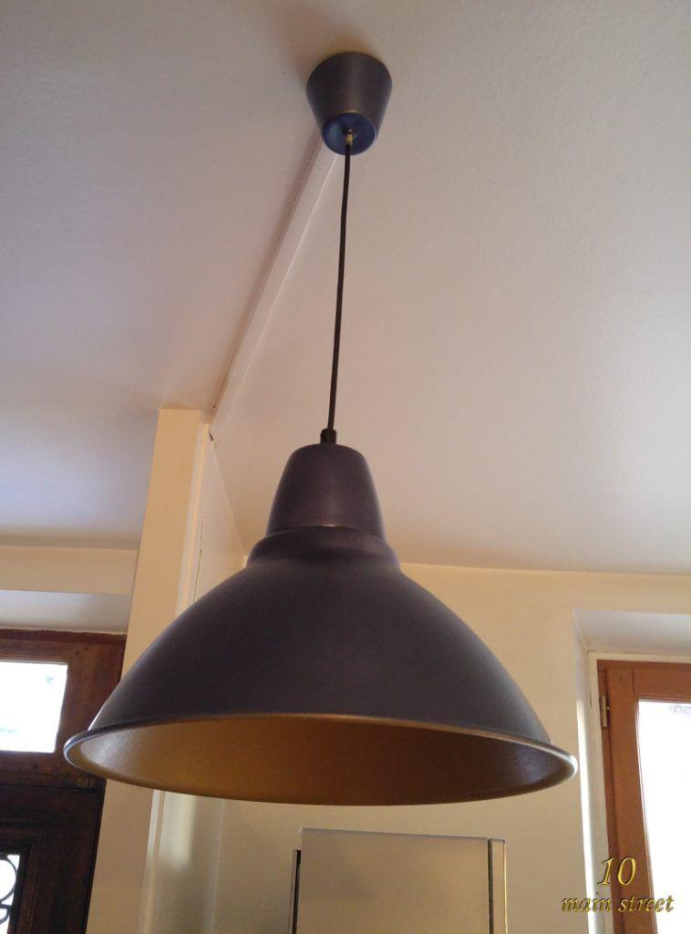 Ikea-hack de luminaire Foto repeint éteint sur www10mainstreetfr - repeindre un evier de cuisine