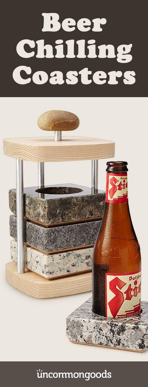 Beer Bottle Chilling Coaster Set stone coasters