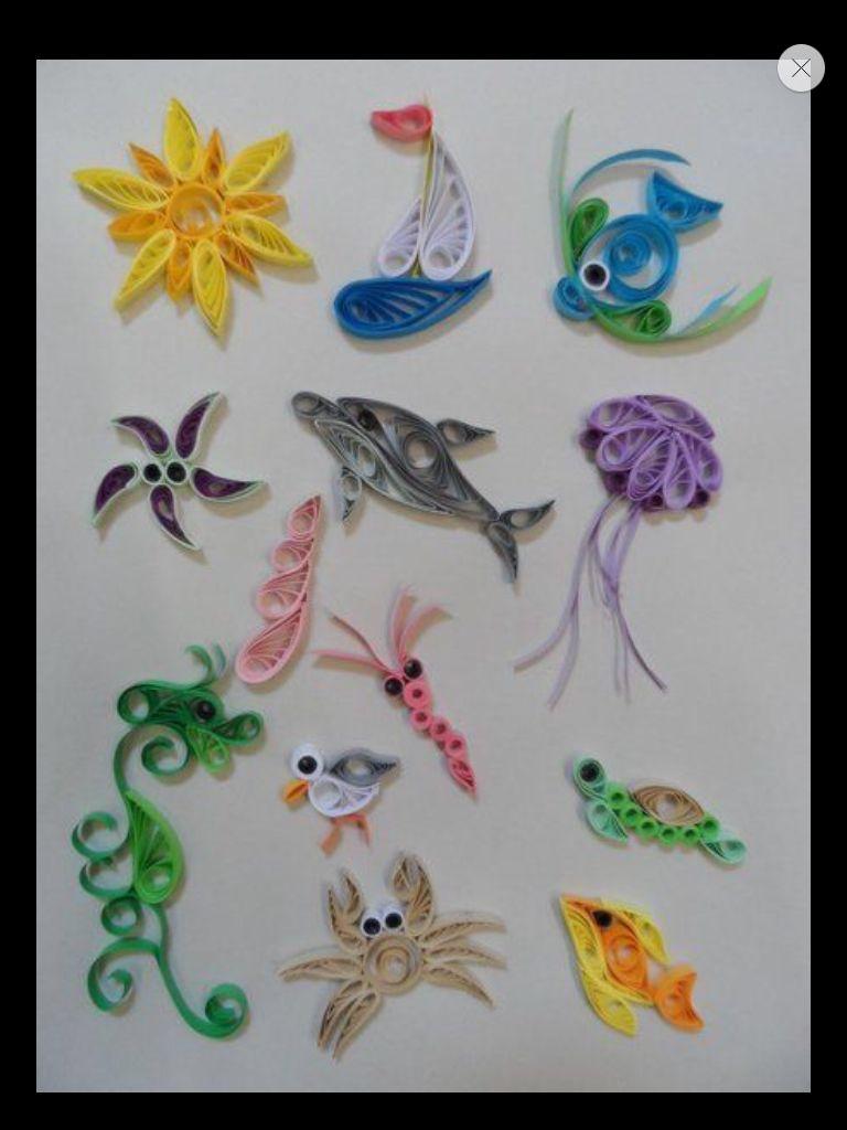 Sea creatures quilling pinterest creatures for Quilling craft ideas