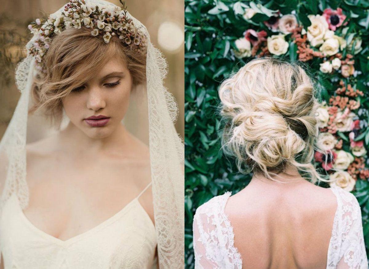 Boho Lace Flower Veil With A Romantic Messy Bun Wedding