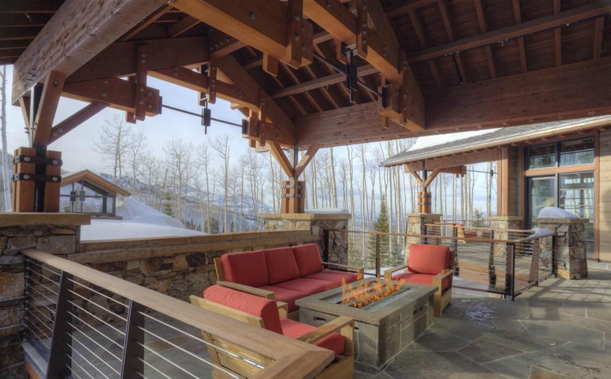 Heated Deck And Patio Ski Home Architecture At Rocky Mountains Park City,  Utah