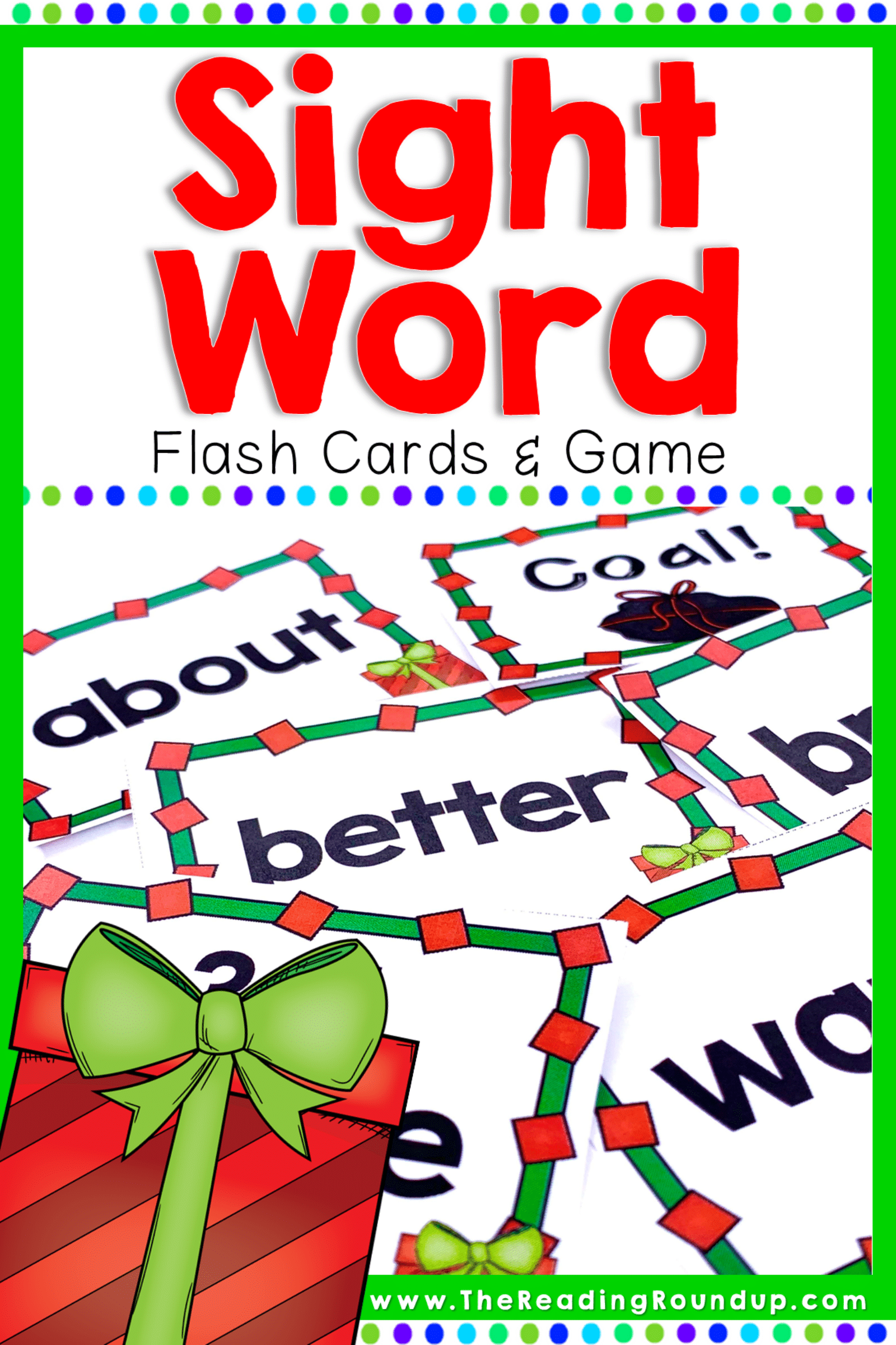 Christmas Sight Word Game & Flash Cards December Sight