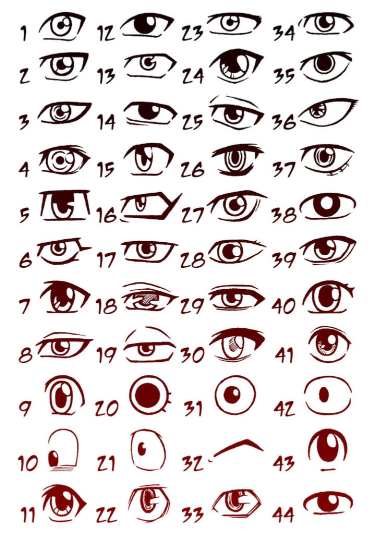 Comprehensive List Of Anime Eyes Anime Post In 2020 Anime Drawings Boy Cartoon Eyes Drawing Anime Eye Drawing