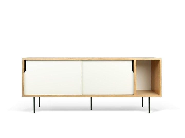 Dann Sideboard 165 Eiche Schwarze Metallfusse Design Temahome 2
