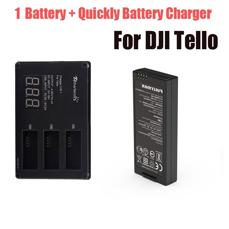 For DJI Tello Battery Quickly Charging Charger + 1 Pcs