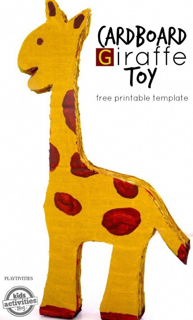 Super cool DIY giraffe toy made from cardboard.