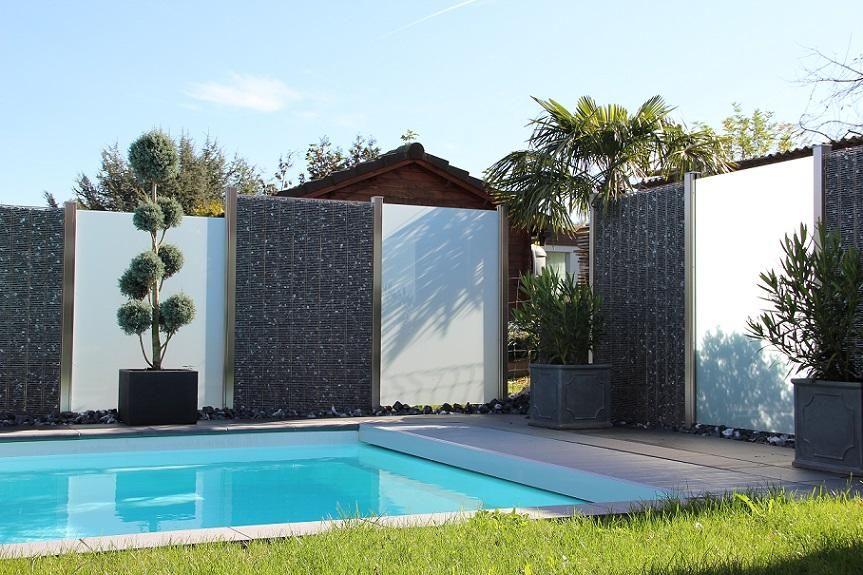 sichtschutz balkon abtrennung tag genie en sie die idee von aus bambus und edelstahl. Black Bedroom Furniture Sets. Home Design Ideas