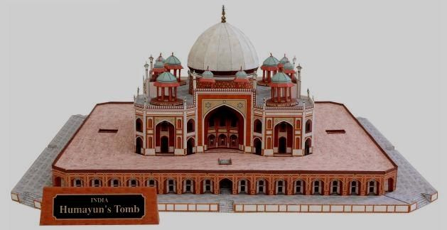 Humayun s Tomb In India Paper Model - by Canon  0b5e1e07ace0