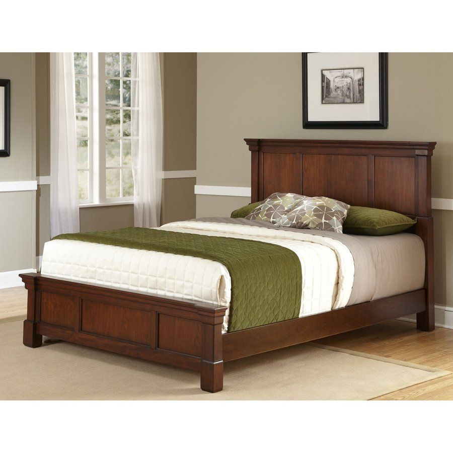 Home Styles Aspen Rustic Cherry King Panel Bed Lowes Com Bedroom