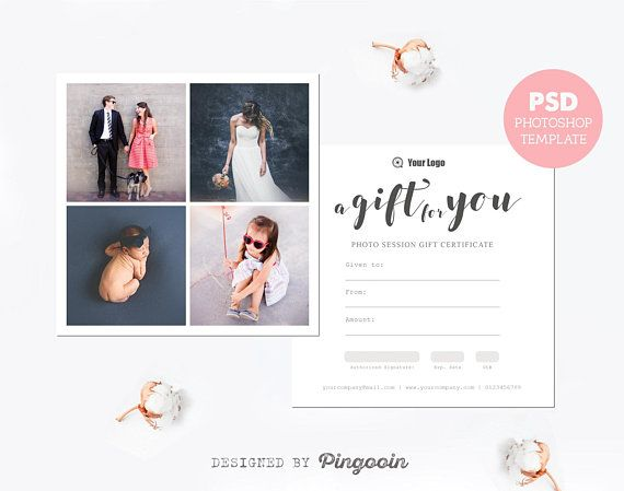 Gift voucher template gift certificate template photography gift gift voucher template gift certificate template photography gift card marketing template editable yelopaper Image collections