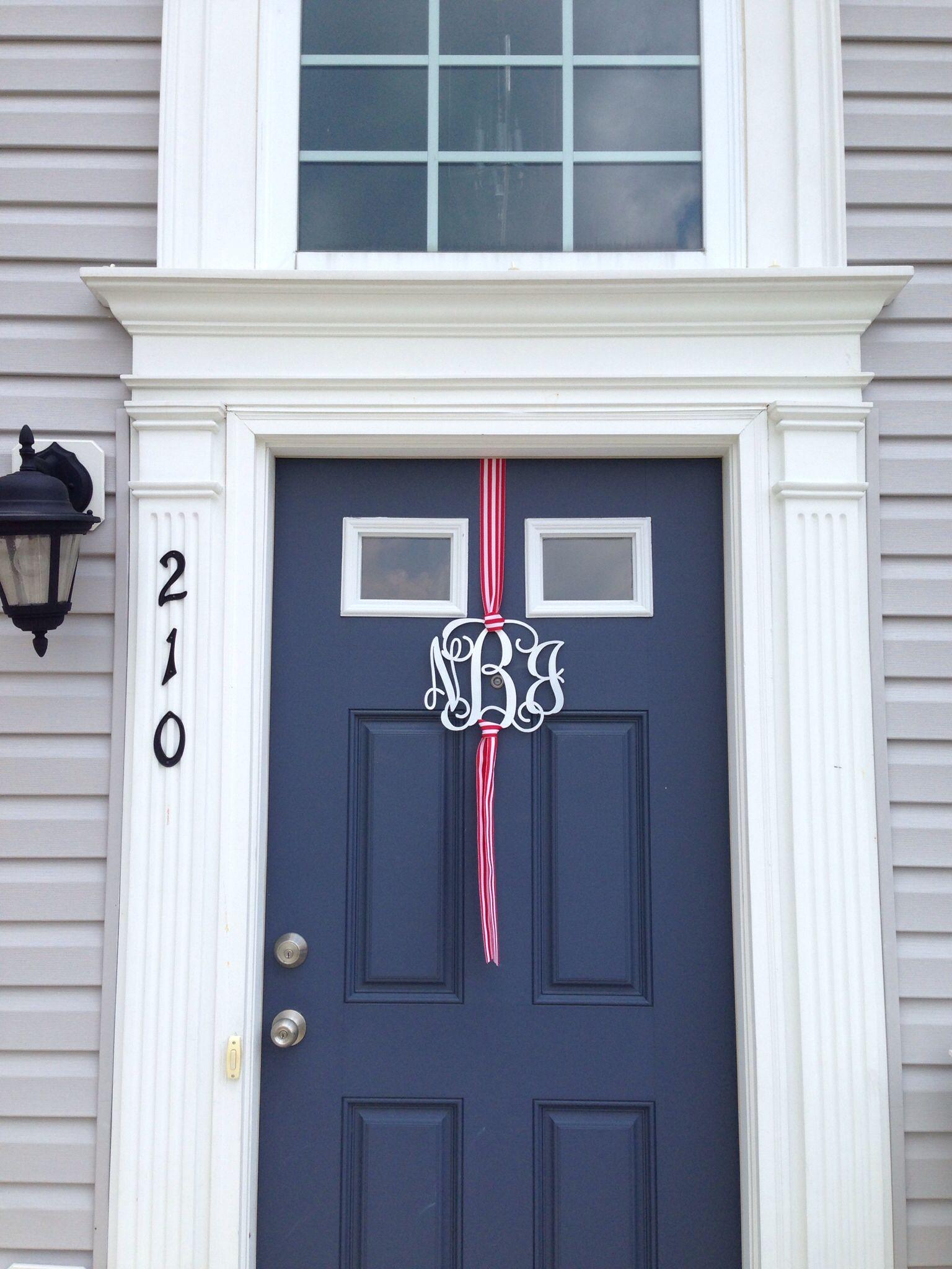 Front door monogram   Door Decor   Pinterest   Front door ...