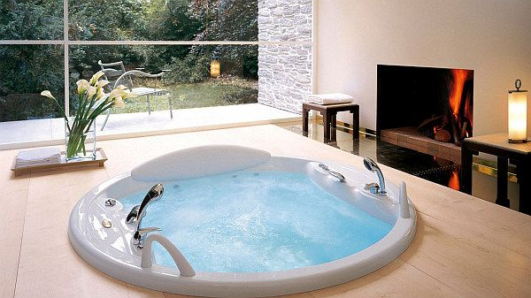 Creating An Indoor Luxury Spa Room At Home Spa Bathroom Design Spa Rooms Jacuzzi Tub