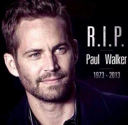 Fast and Furious will never be the same... Paul Walker RIP