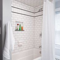 Diy Bath Renovation From Dated To Sophisticated Subway Tile
