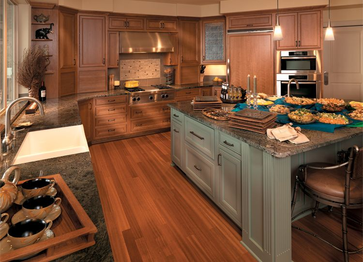 Is Mixing Kitchen Cabinet Finishes Okay Or Not: Mixing Woods And Finishes: Our Norwood Door Style In