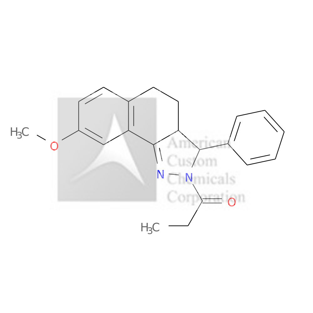 8-METHOXY-3-PHENYL-2-PROPIONYL-3,3A,4,5-TETRAHYDRO-2H-BENZO(G)INDAZOLE is now  available at ACC Corporation