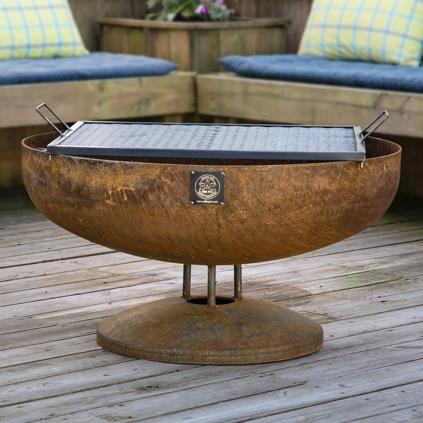 """36"""" Handcrafted Fire Pit Cooking Grate 